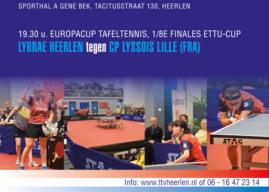 ETTU-Cup: Heerlen – Lille (vr 7 December)