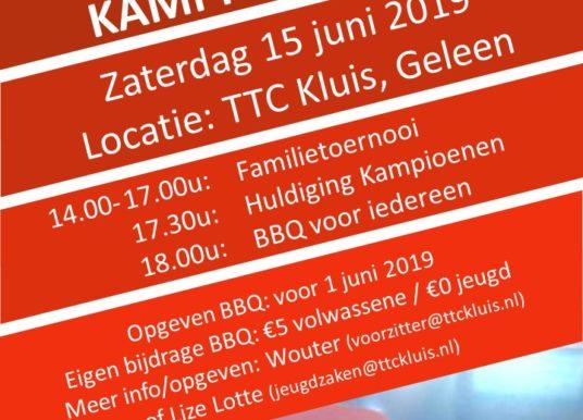 15 juni: Familietoernooi + Kampioenen + BBQ